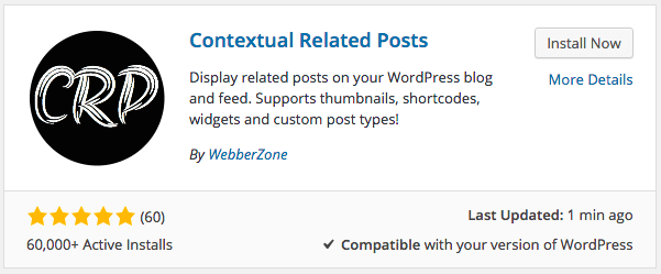 Installing Contextual Related Posts