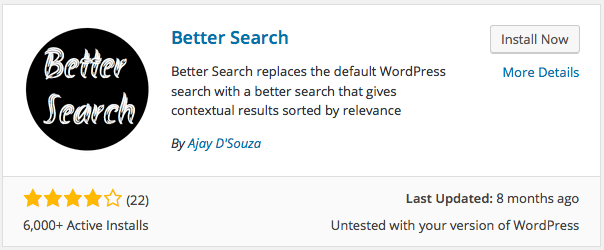 Installing Better Search