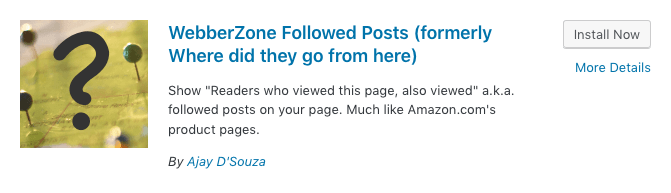 WebberZone Followed Posts