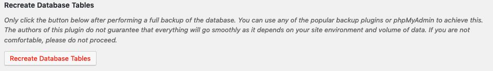 Top 10 v2.7.0 - Recreate Database