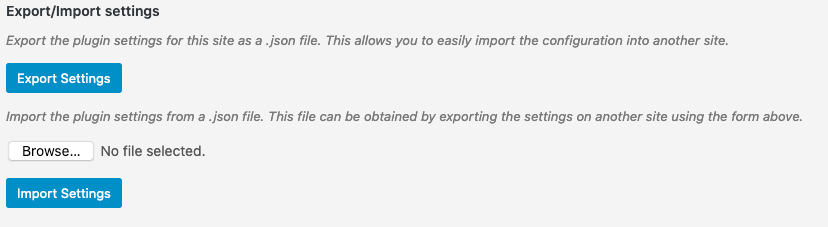 Better Search v2.5.0 Export-Import settings